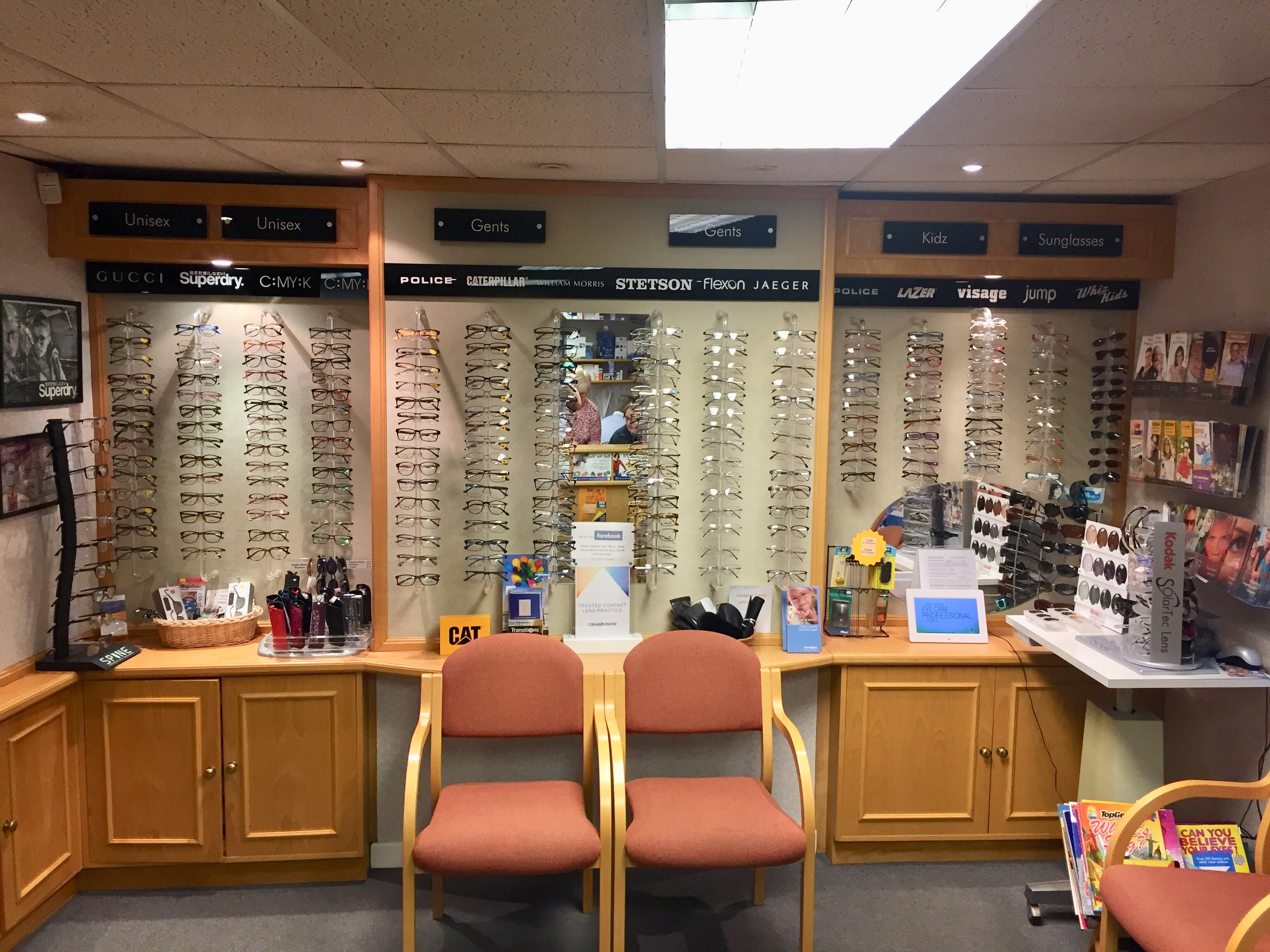Our waiting area and frames display
