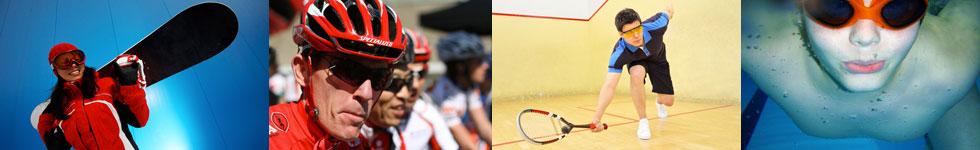 Sports eyewear montage